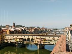 Vista Puente Vecchio desde Galería Ufizzi