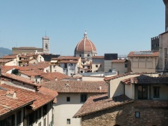 Vista cúpula Sta María desde Galería Ufizzi