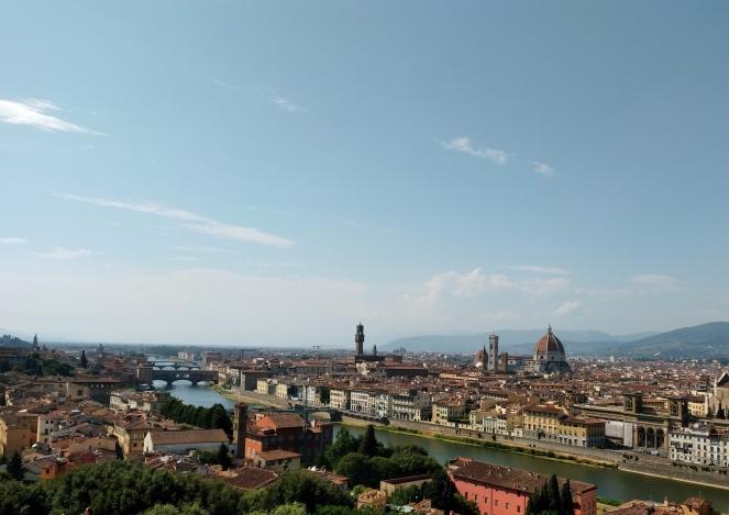 Vista Florencia desde Piazzale Michelangelo